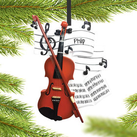 Personalized Orchestra Christmas Ornament