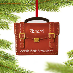 Personalized Occupation Brief Case Christmas Ornament