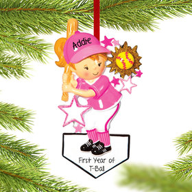 Personalized Softball Player Chrismtas Ornament