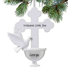 Personalized Baptism Christmas Ornament