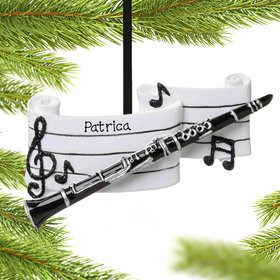 Personalized Clarinet Christmas Ornament