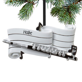 Personalized Flute Christmas Ornament