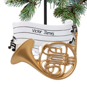 Personalized French Horn Christmas Ornament