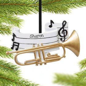 Personalized Trumpet Christmas Ornament