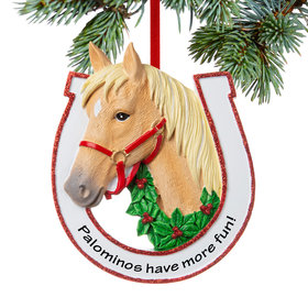 Personalized Blonde Horse Christmas Ornament