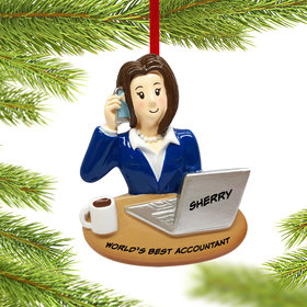 Personalized Businesswoman Christmas Ornament