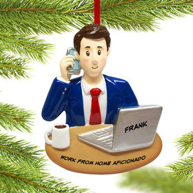 Personalized Businessman Christmas Ornament