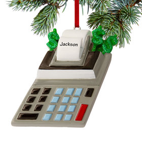 Personalized Accountant's Calculator Christmas Ornament