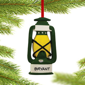 Personalized Camping Lantern Christmas Ornament