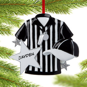 Personalized Referee Christmas Ornament