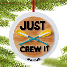 Personalized Just Crew It Christmas Ornament