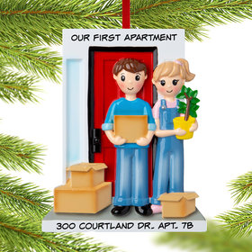Personalized Couple Moving in Together Christmas Ornament