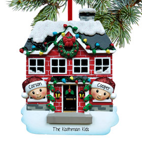 Personalized New House Couple Christmas Ornament