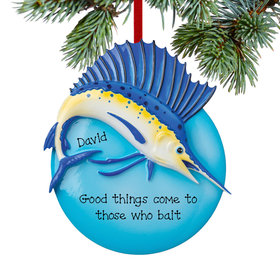 Personalized Sail Fish Christmas Ornament