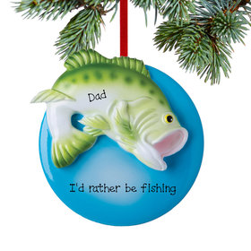 Personalized Largemouth Bass Christmas Ornament