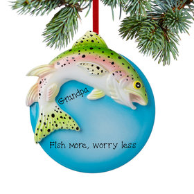 Personalized Rainbow Trout Christmas Ornament