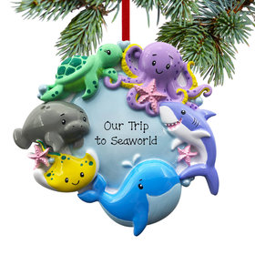 Personalized Under the Sea Christmas Ornament
