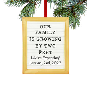 Personalized Our Family is Growing Letter Board Christmas Ornament