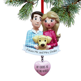 Personalized My Humans are Getting Married Christmas Ornament