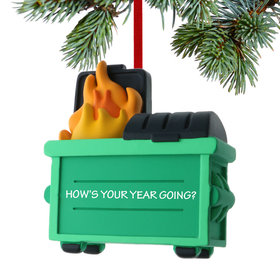 Personalized Dumpster Fire Christmas Ornament