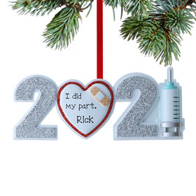 Personalized 2021 Vaccine Christmas Ornament
