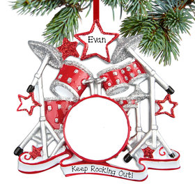 Personalized Drum Set Christmas Ornament