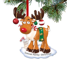 Personalized Christmas Moose Christmas Ornament