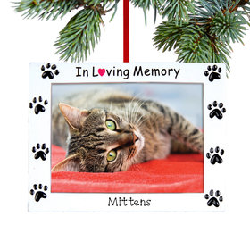 Personalized In Loving Memory Pet Christmas Ornament