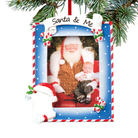 Personalized Santa & Me Picture Frame Christmas Ornament