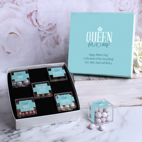 Personalized Mother's Gift Queen Personalized Premium Gift Box with 5 JUST CANDY® favor cubes