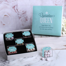 Mother's Day Gifts Quarantine Queen Personalized Premium Gift Box with 5 JUST CANDY® favor cubes