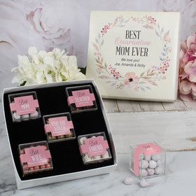 Mother's Day Gifts Best Mom Ever Personalized Premium Gift Box with 5 JUST CANDY® favor cubes