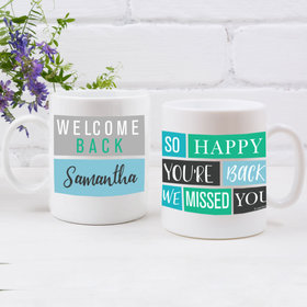 Personalized Quarantine Happy Blocks 11oz Mug Empty