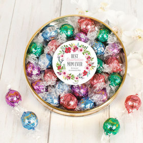 Personalized Quarantine Mother's Day Large Plastic Tin with Lindt Truffles (24pcs)