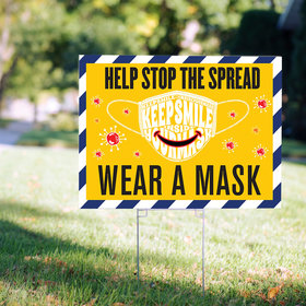 Personalized Yard Sign - Smile Inside Your Mask