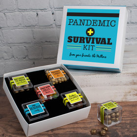 Personalized Survival Kit Care Package Premium Gift Box with 5 JUST CANDY® favor cubes