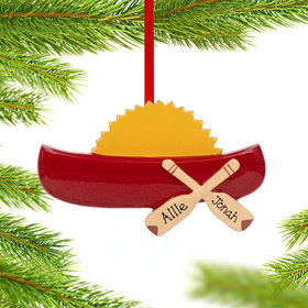 Personalized Canoe Christmas Ornament