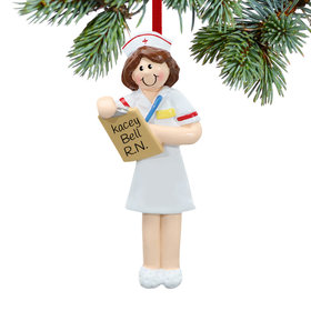 Personalized Nurse with Clipboard Christmas Ornament
