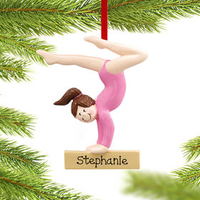 Personalized Gymnast Girl Christmas Ornament