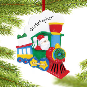 Personalized Santa Train Christmas Ornament