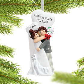 Personalized I Do Couple Christmas Ornament