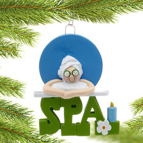 Spa Female Christmas Ornament