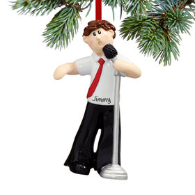 Personalized Singer Male Christmas Ornament