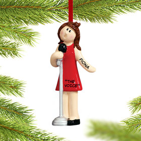 Personalized Singer Female Christmas Ornament