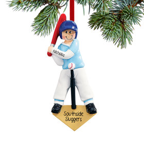 Personalized T-Ball Boy Christmas Ornament