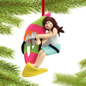 Windsurfer Female Christmas Ornament