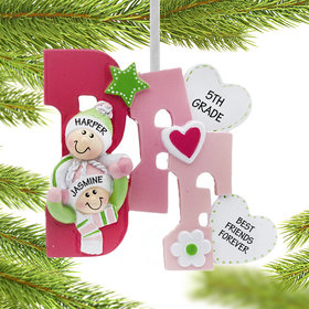 Personalized Best Friends Forever Christmas Ornament