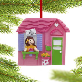 Playhouse for Girls Christmas Ornament