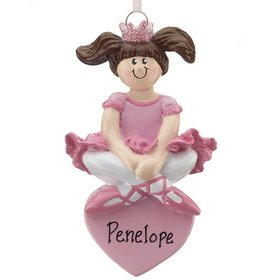 Personalized Ballet Princess Christmas Ornament
