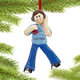 Personalized Chillin' Out Boy Christmas Ornament